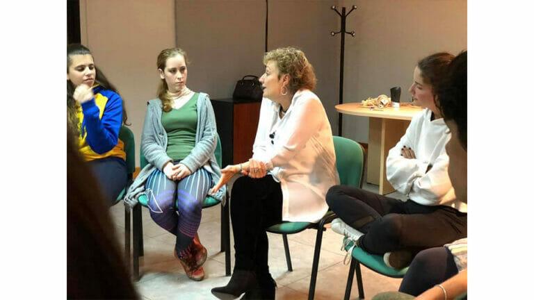 Charla con jóvenes de Akademia, Málaga- España