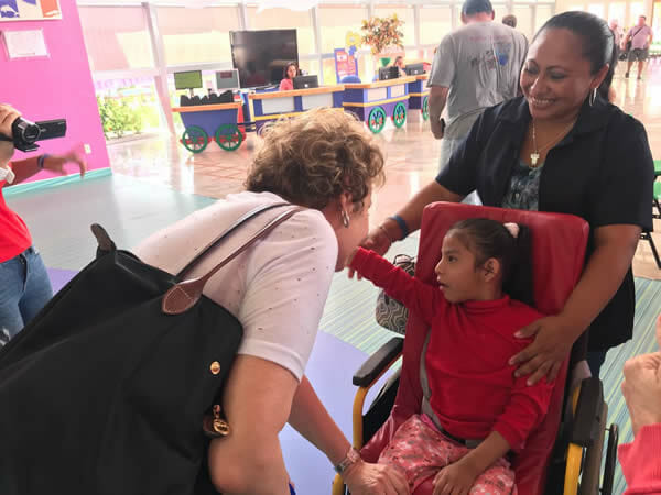 Encuentro con los niños en CRIT Teletón, Cancún-México