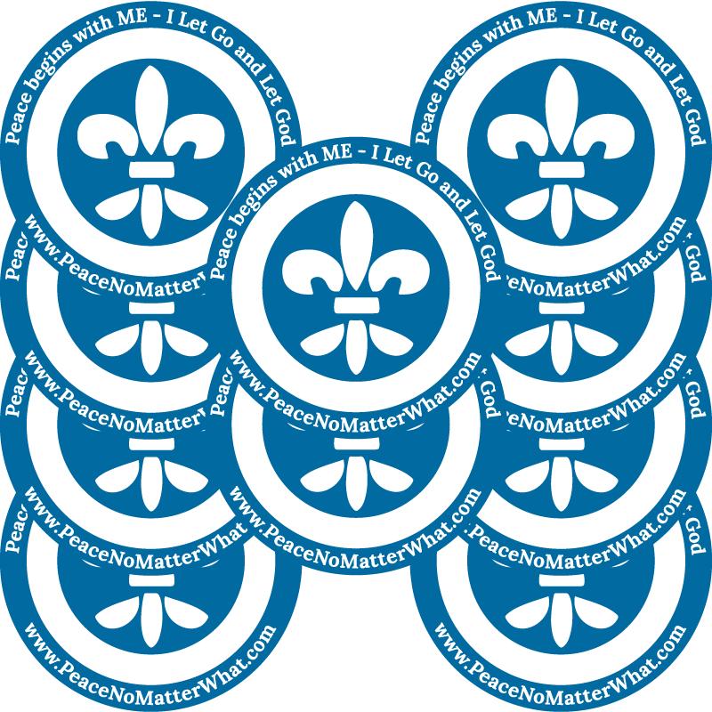 <b>Flor de Lis  Stickers x10</b> </br>Accesories